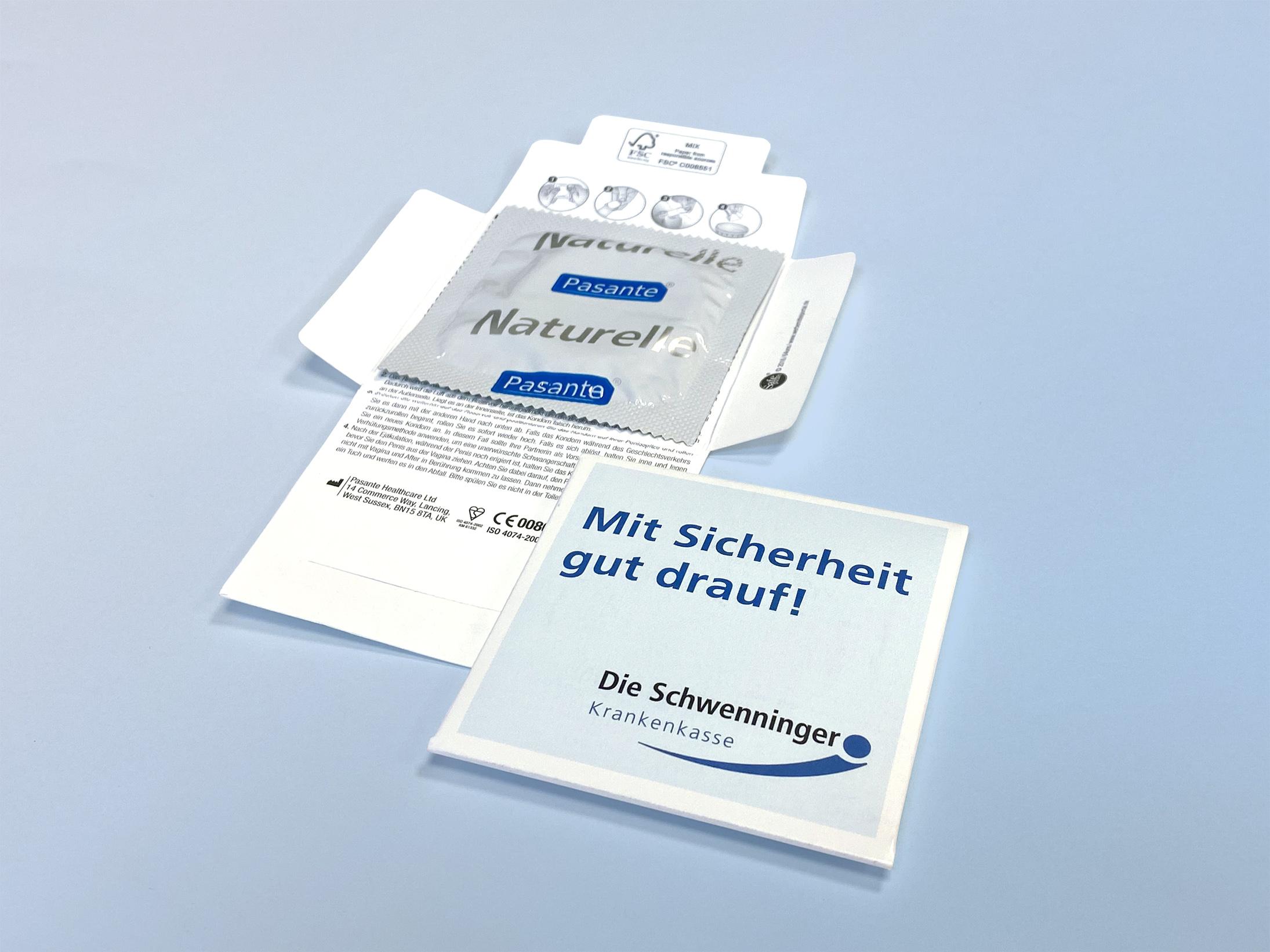 Kondome in Werbe-Sachet